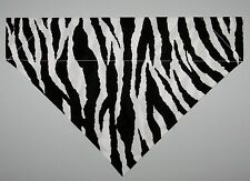 Zebra Stripes Print Dog Bandana Scarf - Slide over Collar - Size Small to XLarge