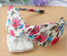 Fashion Girl Womens Stain Bow Stripe Skull Ribbon Headbands Gifts Accessories
