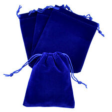 "lot of 25 50 100 Blue 5""x 7"" Jewelry Pouches Velvet Gift Bags Wedding Favors"