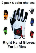 RH - 2 Pk Zero Friction Compression-Fit Golf Glove 6 Colors One Size Fits All