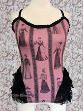 Lip Service Steampunk Victorian Step in Time Westing Manor Lady Print Cami Rose
