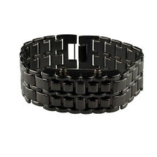 Cool Volcanic Lava Iron Samurai Metal Faceless Bracelet Fashion LED Wrist Watch