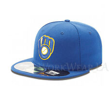 MILWAUKEE BREWERS 5950 Alternate Cap MLB Fitted Baseball Hat On Field New Era