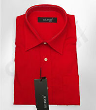 Page Boy Formal Fire Engine Red Shirt Boys Wedding Prom Suit Shirt Age 1 to 16
