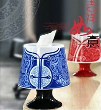 Chinese Unique Style Tissue Box Cover Holder Toilet Paper Roll Container Case