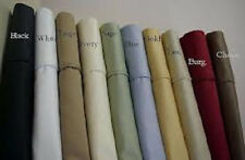 Sale 800TC Soft 2PC Pillow case/Shams Solid 100%Egypt Cotton Choose Size & Color