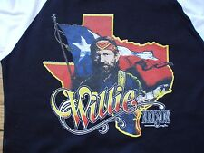vintage style Willie Nelson t-shirt jersey raglan aa size tour of texas XS-XL