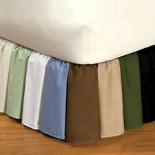 "1000TC Split Corner Bed Skirt Solid 10""Drop lenght 100%Egyptian Cotton all Color"