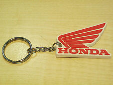 Honda keyring wing logo motorcyle motorcyclist key ring white red rubber