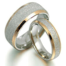 His and Her Gold Filled Matching Anniversary Wedding Titanium Rings Set (TT008)