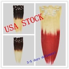 """USA STOCK !balayage/ombre remy 20""""8pcs&100g clip in extensions,3-5 days delivery"""
