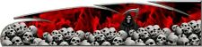 Red Grim reaper skulls flame go kart race car vinyl graphic decal wrap