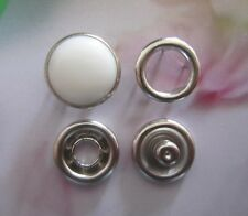 Press Studs Snap Fasteners/Popper Pearl White 9.5mm 10, 20, 50 Or 100