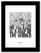 ❤ 30 SECONDS TO MARS From Yesterday ❤ song words typography poster art  print