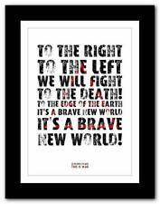 ❤ 30 SECONDS TO MARS This Is War ❤ song words typography poster art  prints