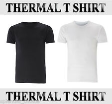 Mens Heat Trap Thermal Brushed Underwear Short Sleeve Vest T Shirt ~ All Sizes