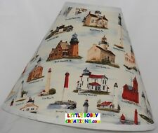 Nautical Lighthouse Fabric Lamp Shade (All Handmade After Order is Placed)