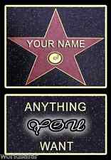 NEW & PERSONALISED HOLLYWOOD STAR WALK OF FAME IDEAL VALENTINES FOR MEN & WOMEN