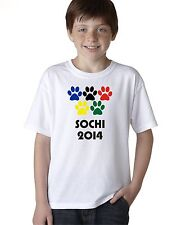Kid's Sochi 2014 Winter Olympics T-Shirt Boy's Russia Games Team Tee