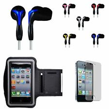 For iPod Touch 4 Sports Armband + Headset + Screen Guard for Gym Jogging Workout