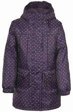 Girls TRESPASS CHARMS Thermal Insulated Winter Jacket Coat Purple Spot Age 2-10