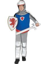 Knight Child Costume Medieval Crusader Lionheart Armour Fancy Dress All Sizes