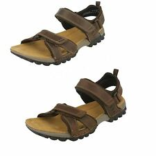 MENS CLARKS LEATHER RIPTAPE STRAP FLEXIBLE CASUAL SUMMER SANDAL VEXTOR PART