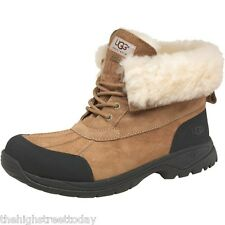 UGG AUSTRALIA Mens Hilgard All Weather Winter Boots Rope Light Brown