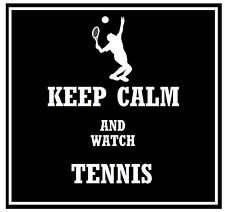 KEEP CALM & WATCH TENNIS - COASTERS - SET OF FUN COASTERS - GIFT - BRAND NEW