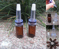 3ml Amber Glass Bottle/Vials W/Trumpet Dripper For Essential oil 10 30 50 100pcs