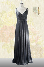 Black Long Formal Evening Maxi Dress wedding gown Ball Gown Plus Sizes Maternity