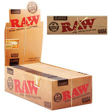 RAW Single Wide Standard Size Natural Unbleached Rolling Papers Multi Listing