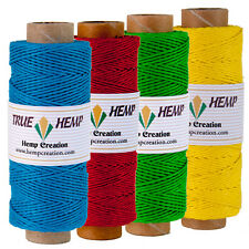 Bundle of 4 True Hemp spools - HEMP CREATION - 10lb 0.mm 310feet/95m 50gram each