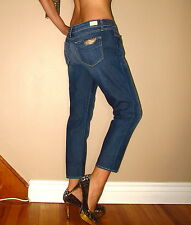 Paige Venice Capri Crop Skinny Jeans Low Rise 31 in Medium Vintage NWT