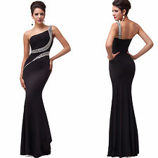 New Evening Wedding Bridesmaids Dresses Beaded Party Slim Prom Maxi Long Dress