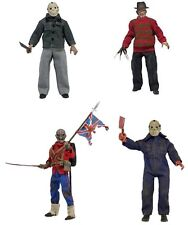 "8"" Clothed Figure Doll NECA Retro Mego Style Freddy Jason Eddie Sold Separately"