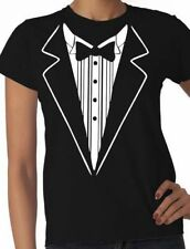 Tuxedo Fancy Dress Funny Ladies  T-Shirt Size S-XXL