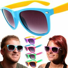 Mens / Womens Retro Vintage Sunglasses Assorted Multi-Color Glasses w/ Dark Lens