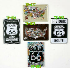 USA Map Route 66 Art wall poster Vintage metal Tin signs Painting Home Bar decor