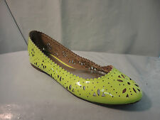 Gap Neon Patent Leather Perforated Ballet Flats ~ Pink , Yellow, & Orange