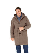 Mens Pegasus Borg Lined Duffle Coat Jacket