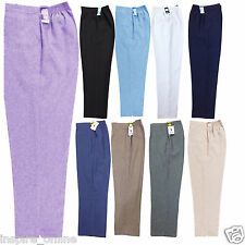 NEW WOMENS LADIES HALF ELASTICATED WAIST TROUSERS POCKETS PANTS PLUS SIZE