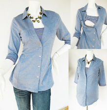 Maternity Clothing ANNA Nursing Shirt Breastfeeding Tops Clothes Light Blue New