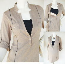 Maternity Clothing MEL Nursing Shirt Breastfeeding Tops Maternity Clothes MOCHA