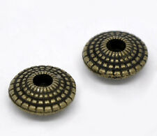 Wholesale HOT! Jewelry Spacer Beads Saucer Bronze Tone 8x4mm