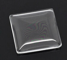 Wholesale HOT! Jewelry Glass Dome Tile Seals Clear Square 25x25mm