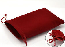 Wholesale HOT! Jewelry Pouch Jewelry Bags Red Velveteen With Drawstring 15x10