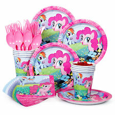 My Little Pony Party Supplies Kit - Plates, Napkins, Cups, Balloons, and Piñatas
