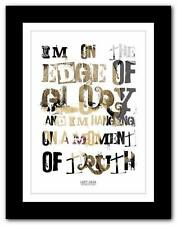 LADY GAGA The Edge Of Glory ❤ song lyrics typography poster art print - A1 A2 A3