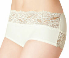 M&S (made for) High Rise Floral Lace Bandeau Shorts Cream/Black/Duck-Egg 7108